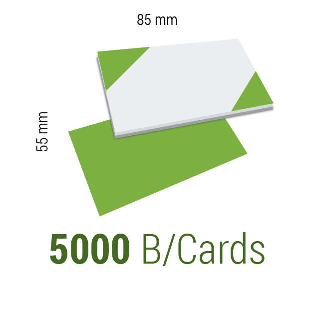 5000 Business Cards 300gsm Uncoated